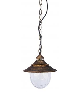 Lampa wisząca Barcelona E27 60W złoto antyczne Rabalux 8678