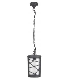 Lampa wisząca Pescara E27/1x60W czarny, szkło opalizowane Rabalux 8743