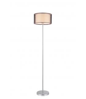 Lampa podłogowa Anastasia E-27, 60W chrom, brązowy Rabalux 2633