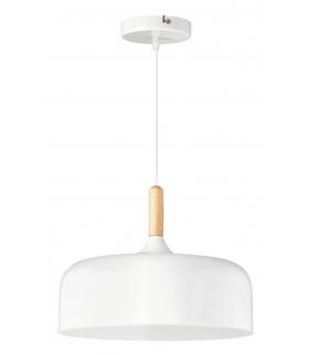 Lampa wisząca Gemma E-27 40W, biały, buk Rabalux 2564