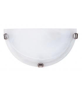 Plafon Alabastro E27 1x60W biały chrom Rabalux 3002