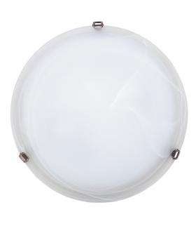 Plafon Alabastro D40 E27 2x60W biała chrom Rabalux 3302