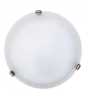 Plafon AlabastroD30 E27 1x60W biały chrom Rabalux 3202