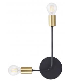 Kinkiet Laila LED E-27 2x60 W czarny/ złoty Rabalux 2102