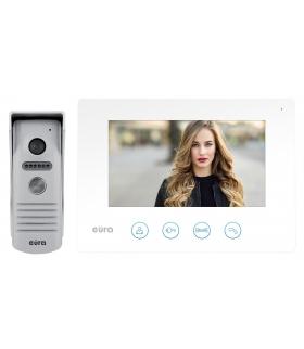 WIDEODOMOFON EURA VDP-40A3 FENIKS BIAŁY ekran 7, monitor z WiFi, otwieranie 2 wejść, aplikacja Eura Connect