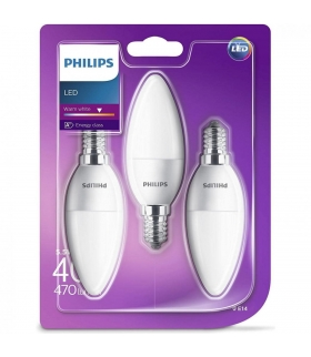 Żarówka LED Philips 5.5W 470lm E14 ciepła 3-pak