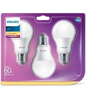 Żarówka LED Philips 8,5W 806lm E27 ciepła 3 SZTUKI