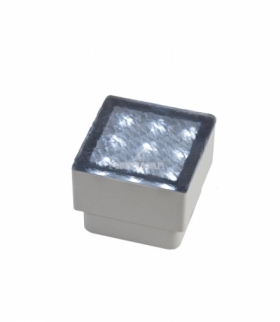 BRIQUE 9 LED 5MM 12V 0,8W IP67 80X80X68MM WW KOSTKI BRUKOWE SLI009001WW12V