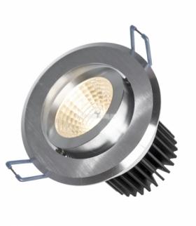 FIALE II 6W COB 38ST 230V CW OCZKO LED PIERŚCIEŃ SZCZOTKOWANE ALUMINIUM SLI021030CW