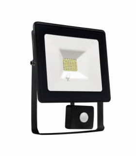 NOCTIS LUX SMD 120ST 230V 10W IP44 CW WALLWASHER BLACK WITH SENSOR SLI029024CW_CZUJNIK