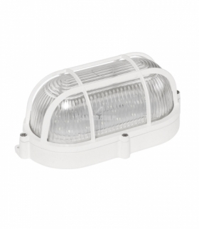 TECHNIC LAMP LED 9W IP65 230V NW OWALNA, KLOSZ SZKLANY PRYZMATYCZNY, KOSZYK ALUMINIUM, PODSTAWA ALUM SLI041040NW