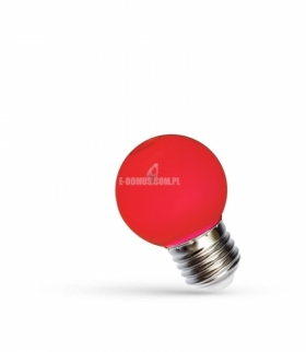 LED KULKA E-27 230V 1W RED SPECTRUM WOJ+11795
