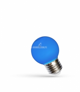 LED KULKA E-27 230V 1W BLUE SPECTRUM WOJ+11797