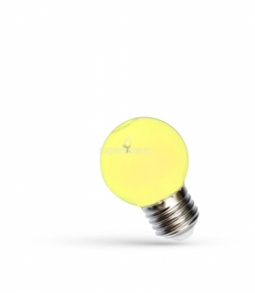 LED KULKA E-27 230V 1W YELLOW SPECTRUM WOJ+11798