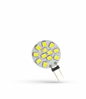 LED G4 12V 1,2W 12 LED CW 20MM SPECTRUM WOJ+13785