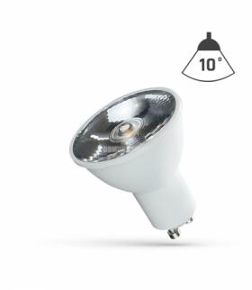 LED GU10 230V 6W SMD 10ST   NW Z SOCZEWKĄ SPECTRUM WOJ+14104