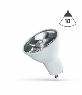 LED GU10 230V 6W SMD 10ST   CW Z SOCZEWKĄ SPECTRUM WOJ+14105