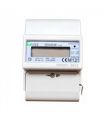 1-fazowy licznik energii elektr, RS-485, 80A, MID