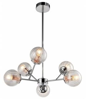 BEST LAMPA WISZĄCA 6X40W E14 CHROM+MIEDŹ Candellux 36-67272