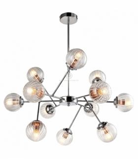 BEST LAMPA WISZĄCA 12X40W E14 CHROM+MIEDŹ Candellux 30-64806