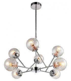 BEST LAMPA WISZĄCA 8X40W E14 CHROM+MIEDŹ Candellux 38-67289