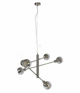 MIGO LAMPA WISZĄCA LINKA 6X10W E14 LED SATYNA Candellux 36-72528