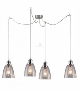 VOICE LAMPA WISZĄCA 4X40W E27 CHROMOWY Candellux 34-70838