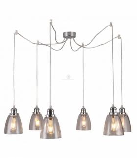 VOICE LAMPA WISZĄCA 6X40W E27 CHROMOWY Candellux 36-70845