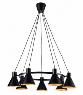 MORE LAMPA WISZĄCA 7X40W E27 CZARNY MATOWY Candellux 37-71170