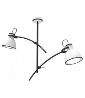 ZUMBA LAMPA WISZĄCA 2X40W E14 BIAŁY+CZARNY Candellux 32-72054