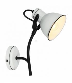 ZUMBA LAMPA KINKIET NA WYSIEGNIKU 1X40W E14 BIAŁY+CZARNY Candellux 91-72122
