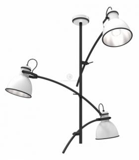 ZUMBA LAMPA WISZĄCA 3X40W E14 BIAŁY+CZARNY Candellux 33-72061