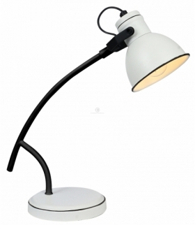 ZUMBA LAMPA GABINETOWA SZTYCA SKOS 1X40W E14 BIAŁY+CZARNY Candellux 41-72085