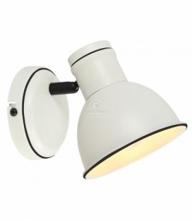 ZUMBA LAMPA KINKIET 1X40W E14 BIAŁY+CZARNY Candellux 91-72115