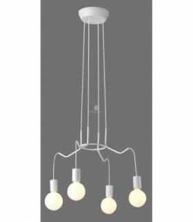 BASSO LAMPA WISZĄCA 4X40W E27 BIAŁY MATOWY Candellux 34-71002
