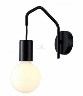 BASSO LAMPA KINKIET 1X40W E27 CZARNY MATOWY Candellux 21-70999