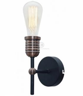 KIRIMU LAMPA KINKIET 1X60W E27 CZARNY Candellux 21-66879