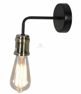 GOLDIE LAMPA KINKIET 1X60W E27 CZARNY+PATYNA BEZ ŻARÓWKI Candellux 21-56160-Z