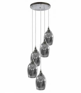 MARINA LAMPA WISZĄCA TALERZ 5X60W E27 CHROM Candellux 35-60198