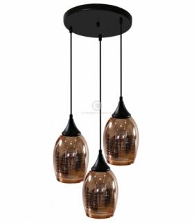 MARINA LAMPA WISZĄCA TALERZ 3X60W E27 MIEDZIANY Candellux 33-51608