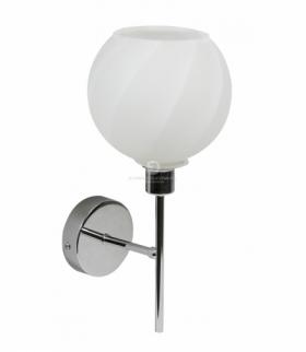 RAUL LAMPA KINKIET 1X40W E14 CHROM KLOSZ BIAŁY Candellux 21-72191