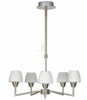 TOGO LAMPA WISZĄCA 5X40W G9 NIKIEL MAT PROMOCJA Candellux 35-10646