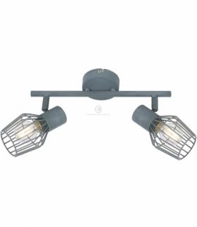 VIKING LAMPA SUFITOWA LISTWA 2X40W E14 SZARY Candellux 92-68026