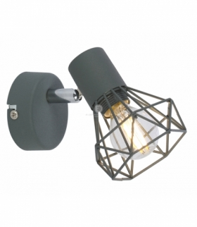 VERVE LAMPA KINKIET 1X40W E14 MATOWY SZARY Candellux 91-60969