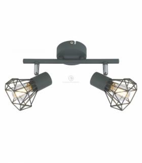 VERVE LAMPA SUFITOWA LISTWA 2X40W E14 MATOWY SZARY Candellux 92-60976