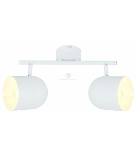 AZURO LAMPA SUFITOWA LISTWA 2X40W E27 BIAŁY Candellux 92-63250