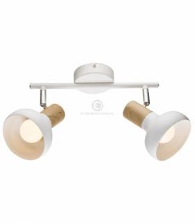 PUERTO LAMPA SUFITOWA LISTWA 2X40W E14 BIAŁY Candellux 92-62659