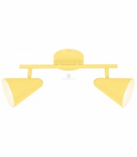 AMOR LAMPA SUFITOWA LISTWA 2X40W E14 BANANOWY Candellux 92-68804