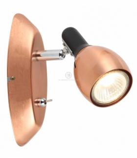 CROSS LAMPA KINKIET 1X50W GU10 MIEDZIANY Candellux 91-32768
