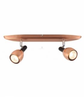 CROSS LAMPA SUFITOWA LISTWA 2X50W GU10 MIEDZIANY Candellux 92-32775